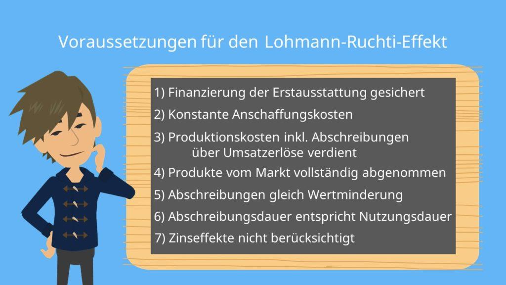 Voraussetzungen lohmann-Ruchti-Effekt Kapazitätserweiterungseffekt