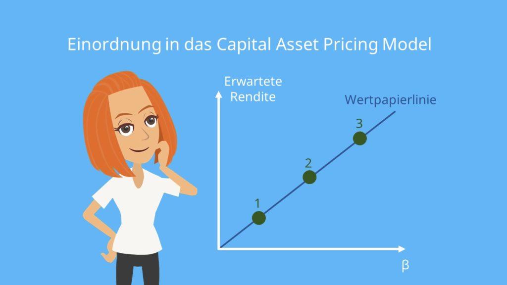 Wertpapierlinie CAPM Capital Asset Pricing Model Systematisches Risiko Unsystematisches Risiko