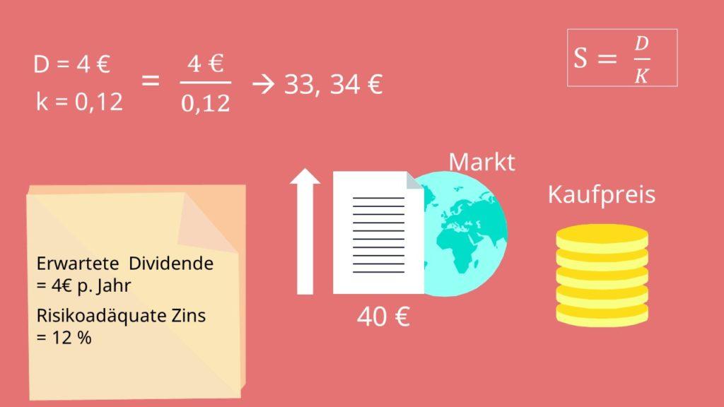 Dividenden-Diskontierungsmodell Dividend-Discount-Model Gordon Growth Model Beispiel