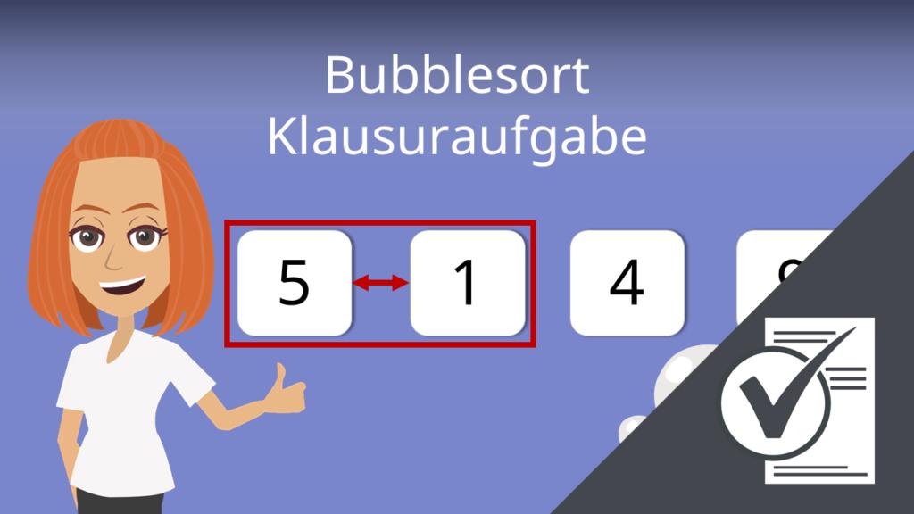 Klausuraufgabe, Bubblessort