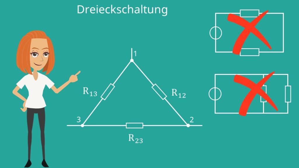Drehstrommotor Anschluss: Dreieckschaltung