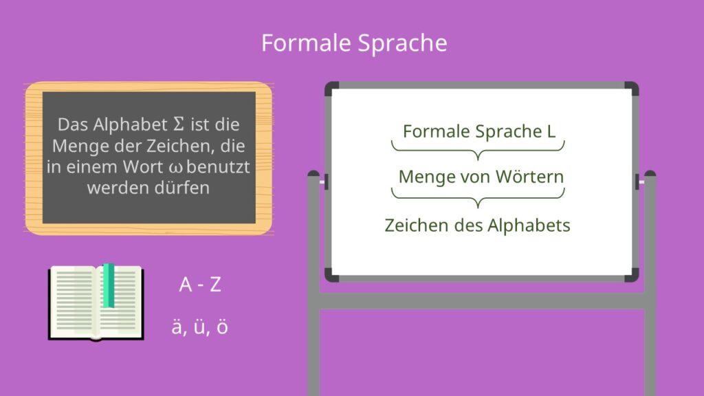 Formale Sprachen, Formale Sprache