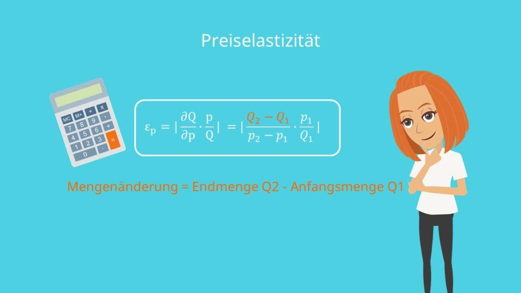 Preiselastizität Formel Preiselastizität berechnen