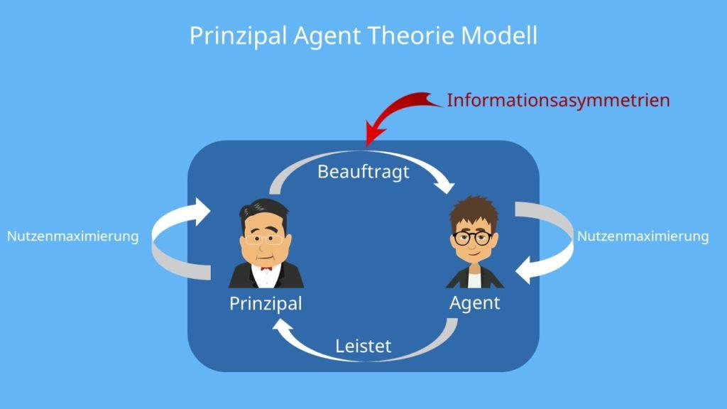 Prinizpal, Theorie, Nutzenmaximierung, Informationsasymmetrie