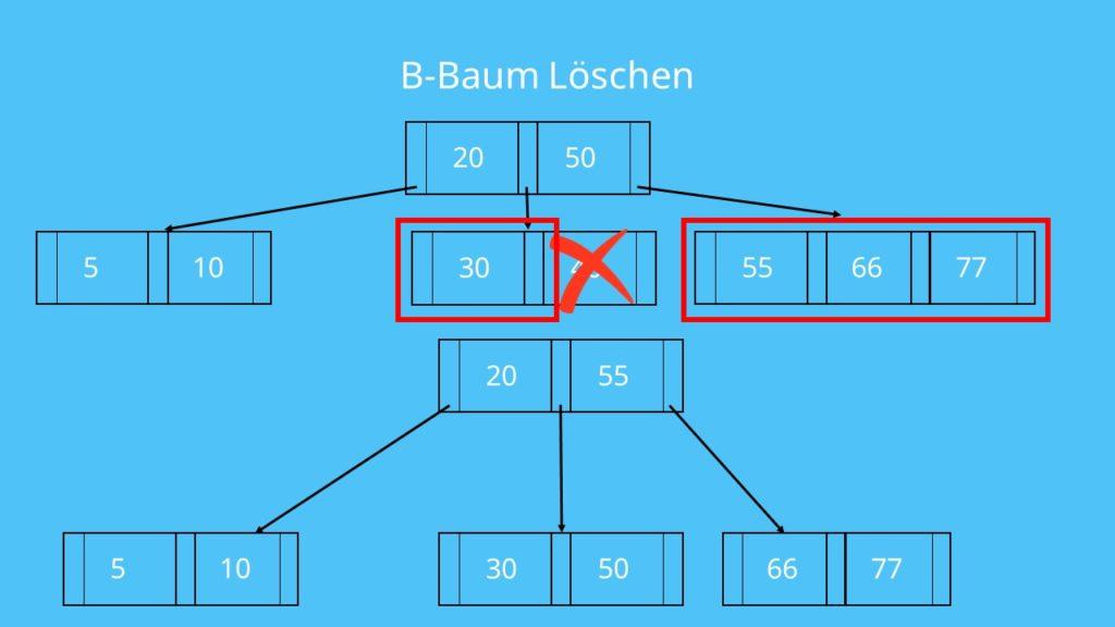 B Baum Löschen Verschiebung
