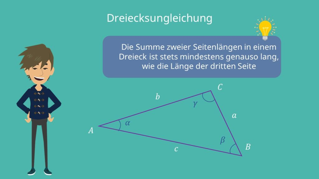 Dreiecksgleichung, Seitenlängen, Winkelsummen