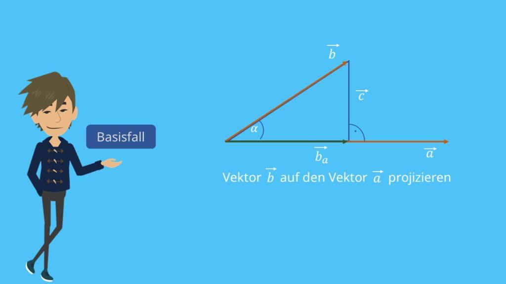 Senkrechte Projektion Vektoren Orthogonale Projektion
