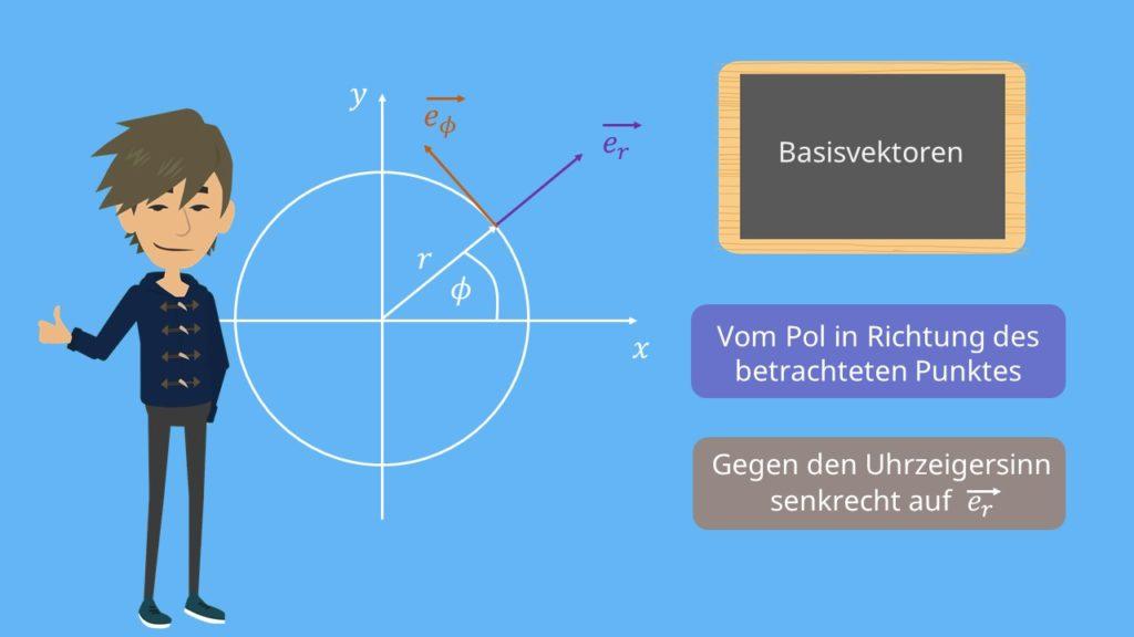 Basisvektoren Pol Polkoordinaten