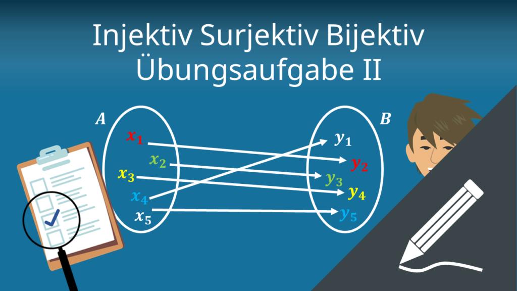 Injektiv Surjektiv Bijektiv: Übungsaufgabe II