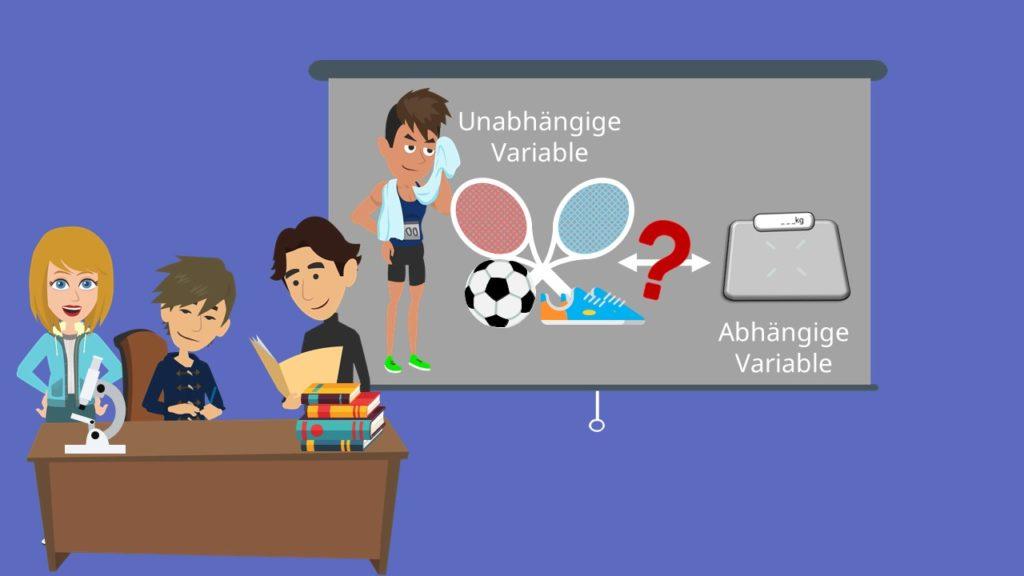 Abhängige Variable, Unabhängige Variable, Beispiel