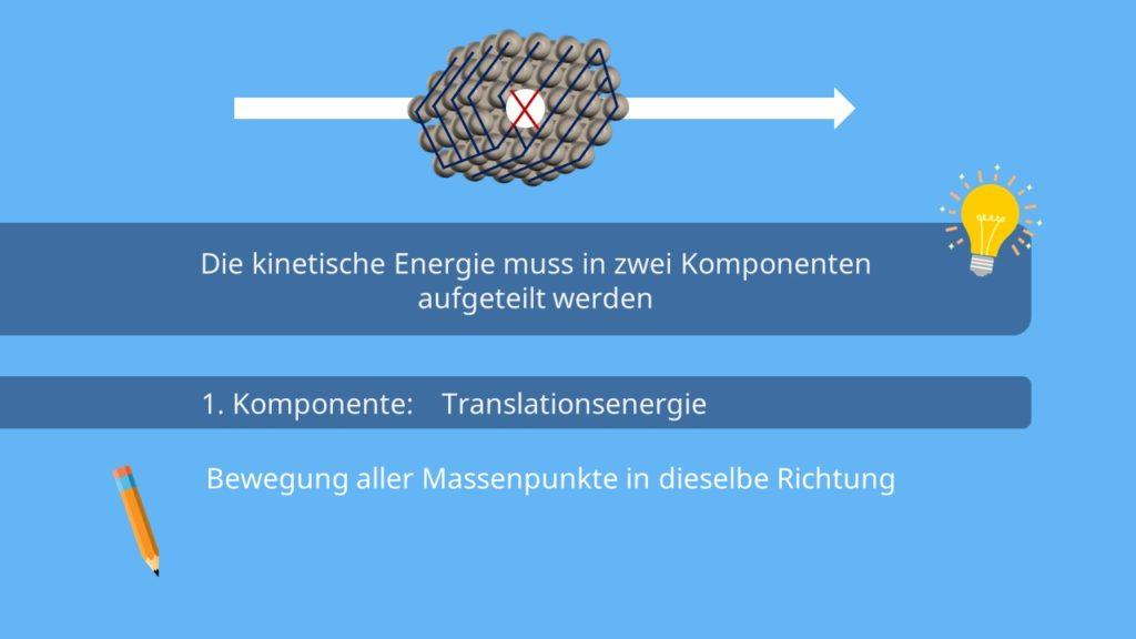 Kinetische Energie, Translationsenergie, starrer Körper