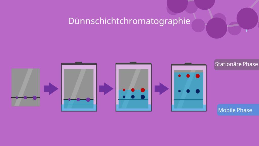 Dünnschichtchromatographie, Ablauf, Stationäre Phase, mobile Phase