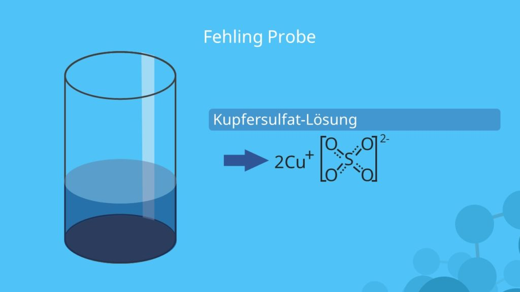 Fehling Probe, Fehlingprobe, Fehling Reaktion, Kupfersulfat
