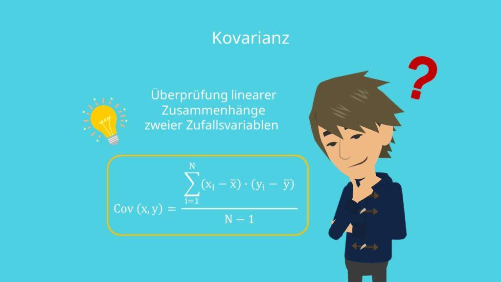 Kovarianz berechnen, Kovarianz Formel