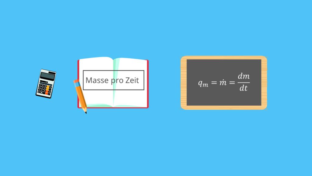 Massenstrom, Masse pro Zeit, Ableitung Masse, Zeit, Grundgleichung, Massenstrom Grundgleichung, Strömungsmechanik