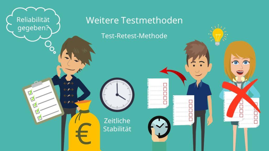 Test-Retest, Retest-Methode, Retest Reliabilität