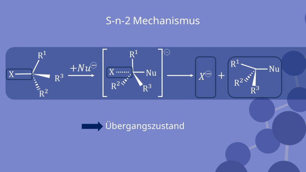 Übergangszustand, Sn2, Nucleophile Substitution