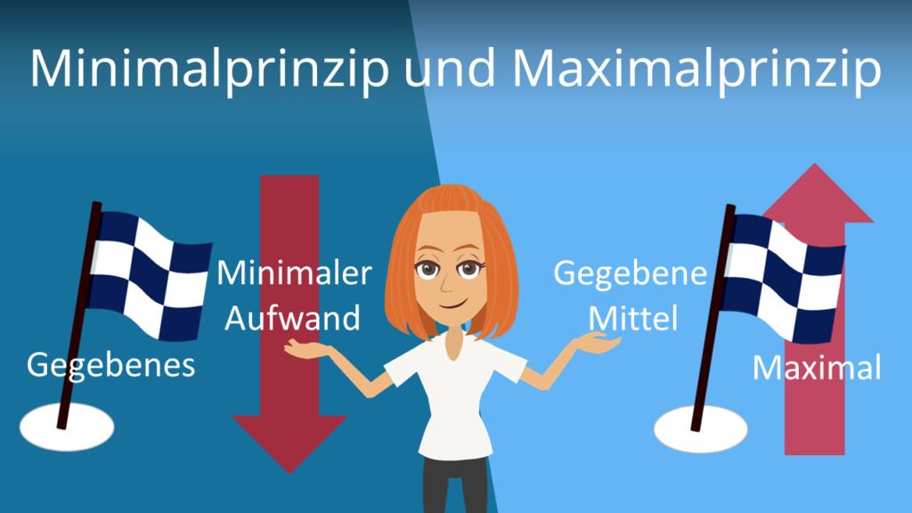 Zum Video: Minimalprinzip und Maximalprinzip