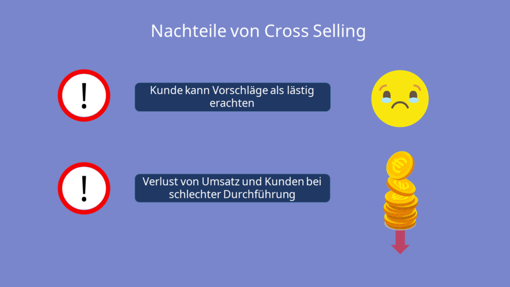 Nachteile von Cross Selling