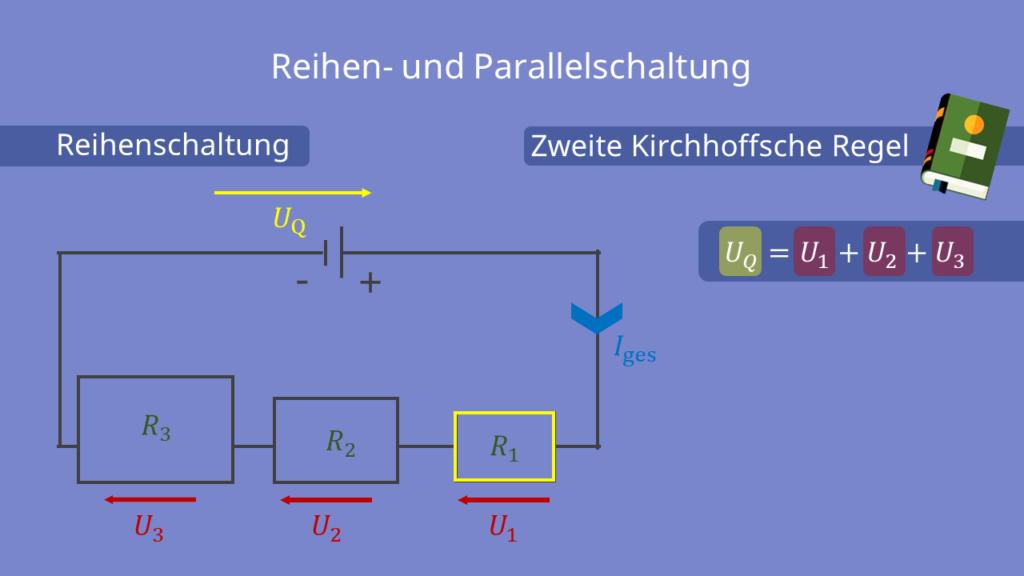 elektrische Spannung bei einer Reihenschaltung