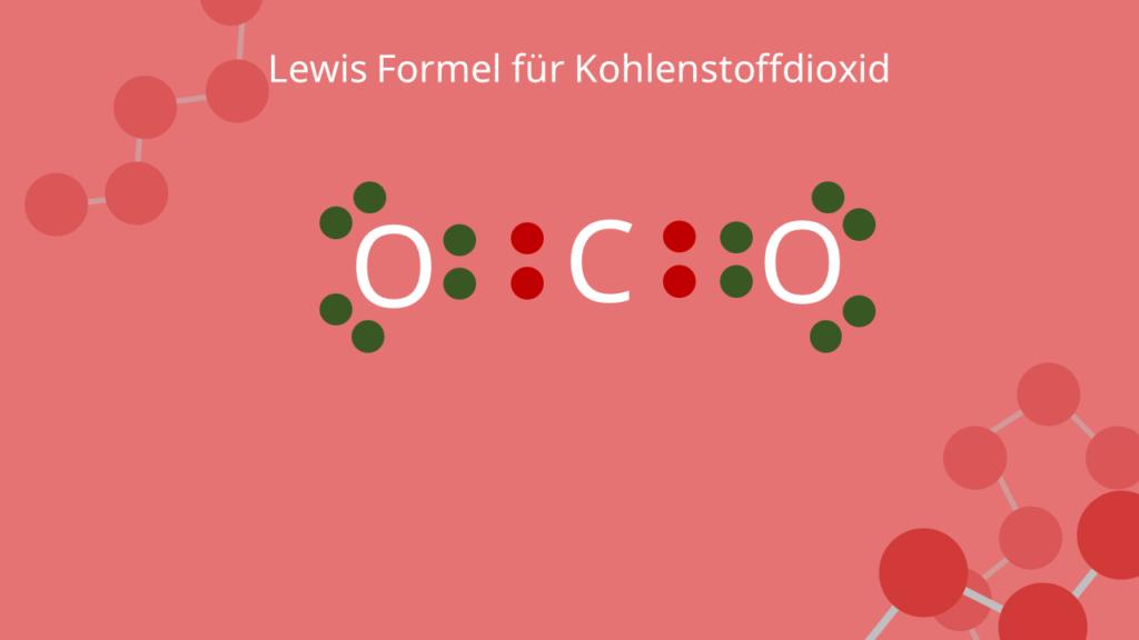 Lewis Formel für Kohlenstoffdioxid