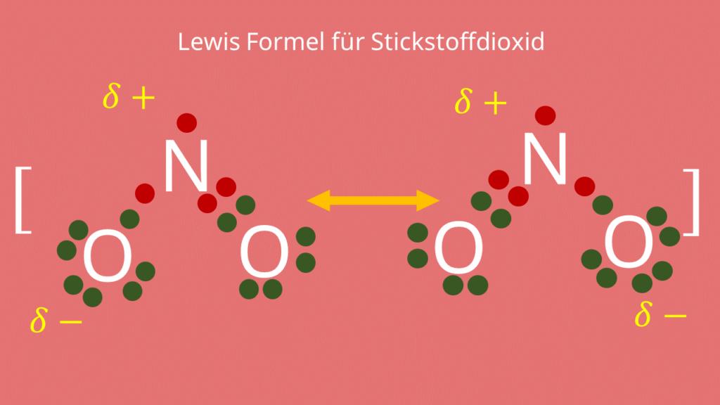 Lewis Formel für Stickstoffdioxid