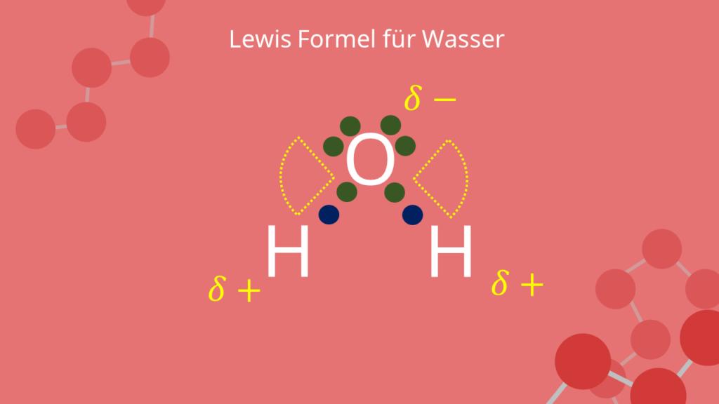 Lewis Formel für Wasser