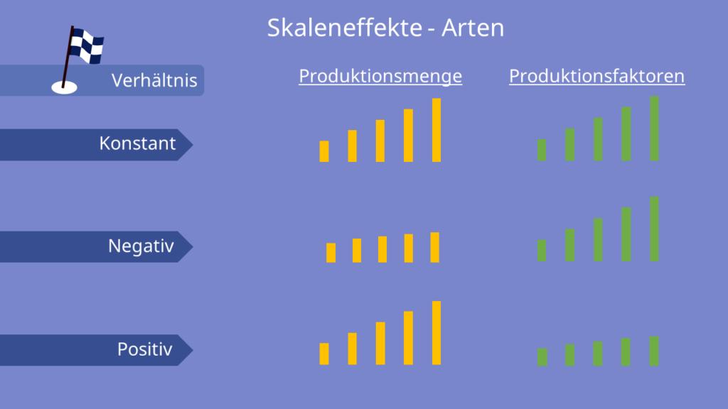 Skaleneffekte - Arten, Economies of Scale