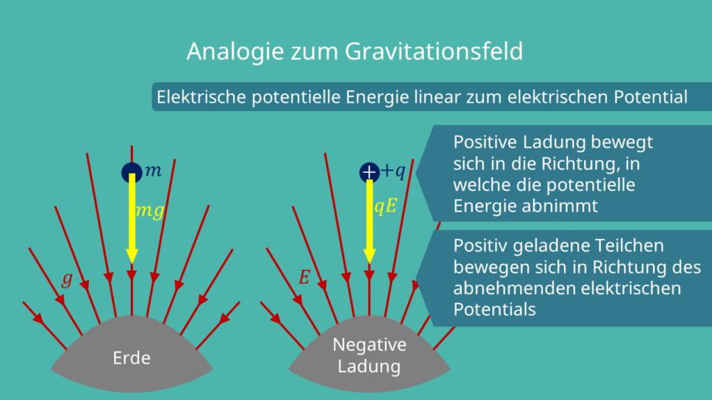 Analogie zum Gravitationsfeld