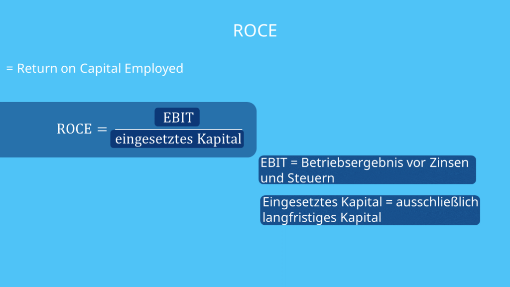 ROCE Bedeutung, was ist ROCE, Definition, Formel