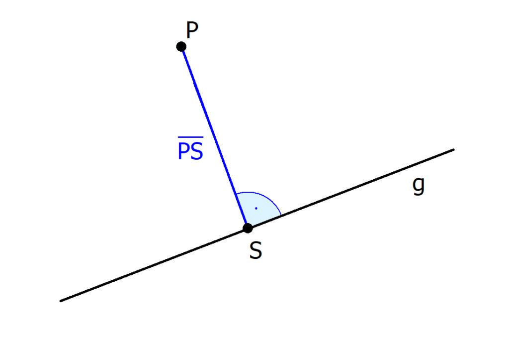 Abstand Punkt Gerade, Abstandsberechnung, Mathematik, Formel, Lotfußpunktverfahren