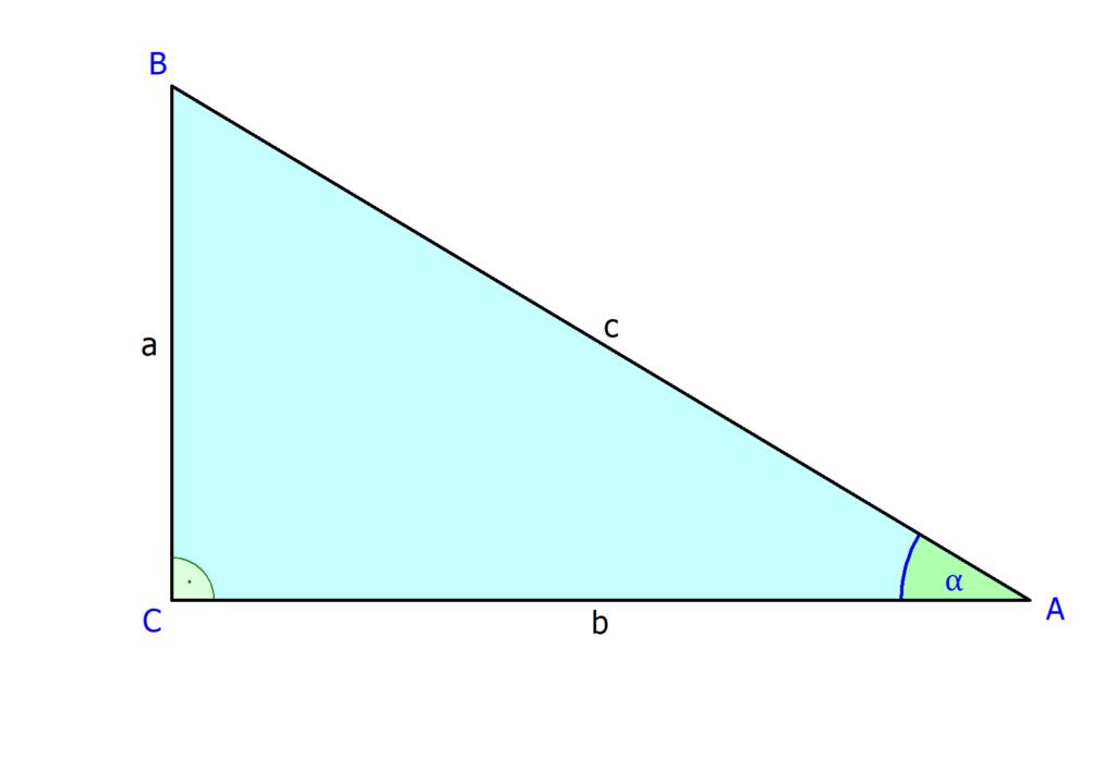 Cosinus am rechtwinkligen Dreieck