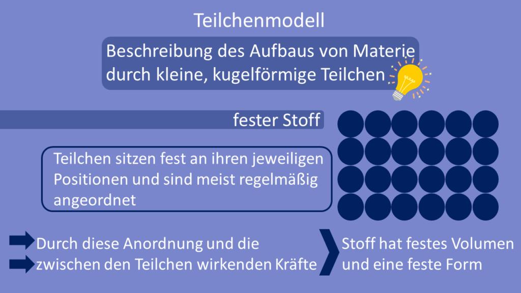 Teilchenmodell, fester Stoff, Feststoff