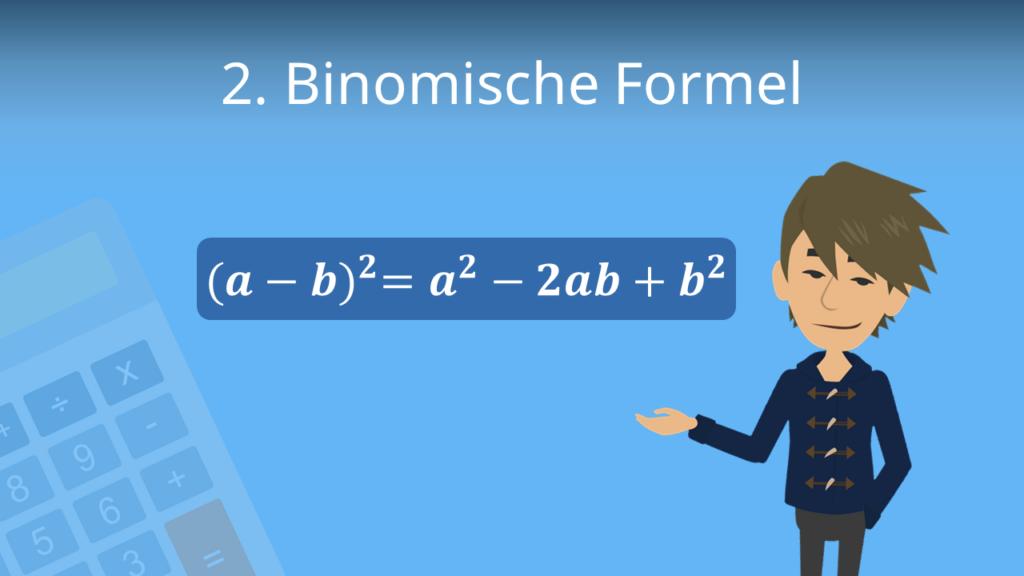 Zum Video: 2. binomische Formel