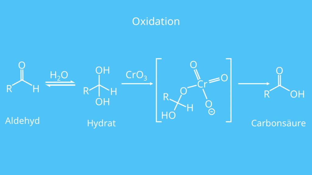 Aldehyd, Wasser, Hydrat, Carbonsäure, Oxidation