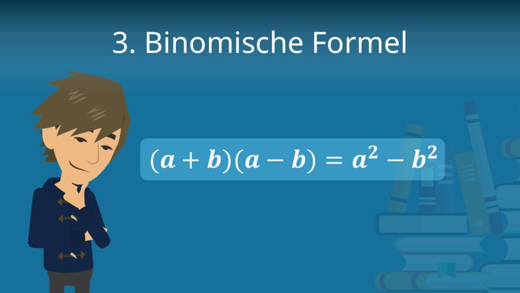 Zum Video: 3. binomische Formel