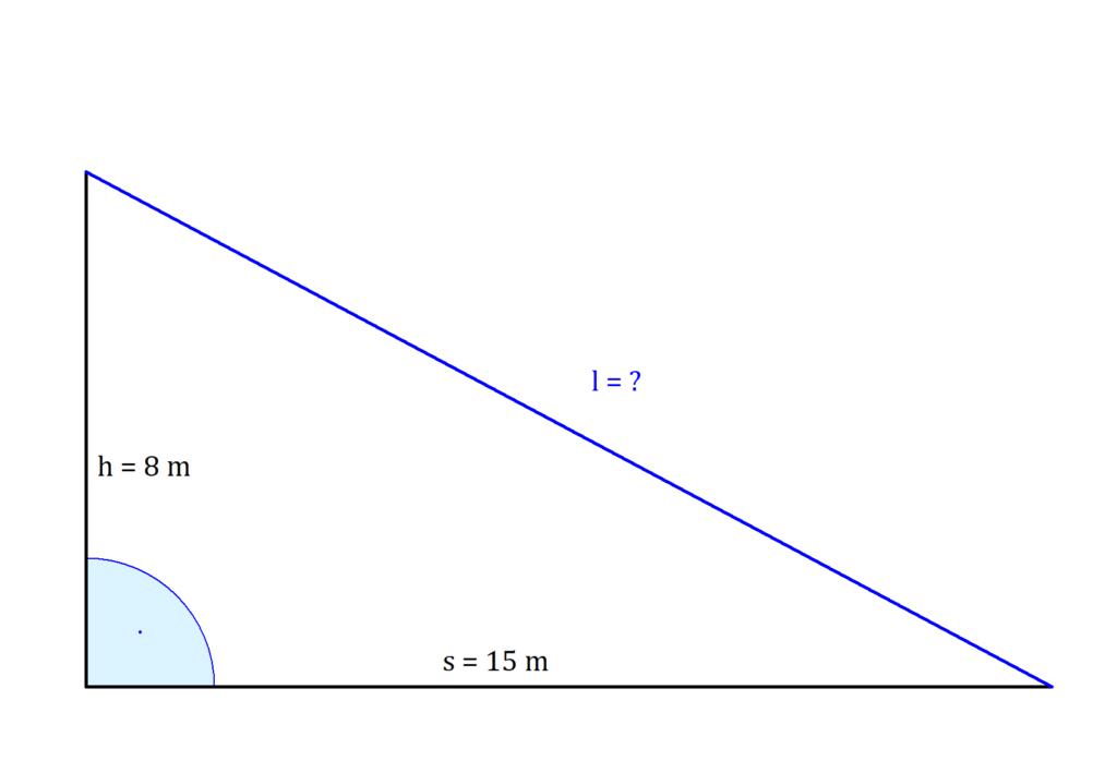 Satz des Pythagoras Anwendungsaufgabe, Satz des Pythagoras Anwendungsbeispiel