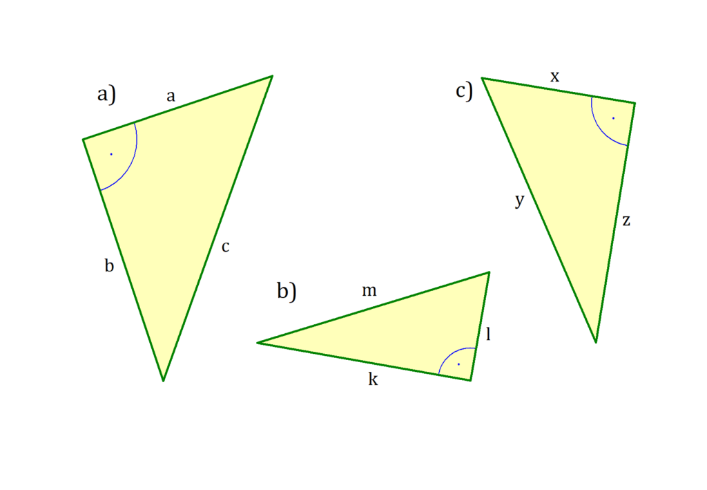 Satz des Pythagoras, Satz des Pythagoras Aufgabe, rechtwinkliges Dreieck, rechtwinklige Dreiecke