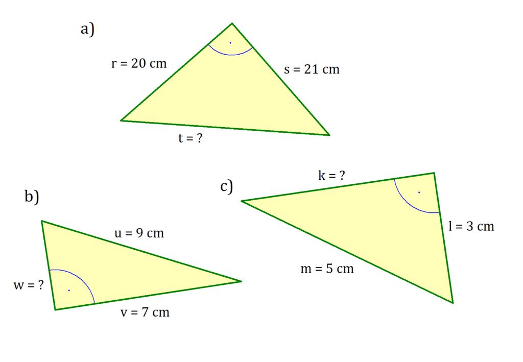 Satz des Pythagoras Aufgabe, Pythagoras Aufgabe, Aufgabe rechtwinkliges Dreieck