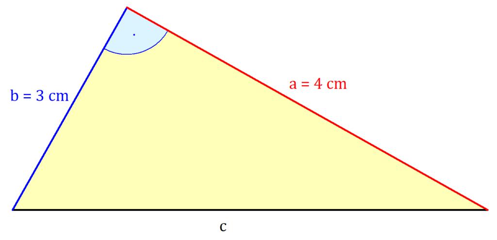 Satz des Pythagoras, Satz des Pythagoras Beispiel