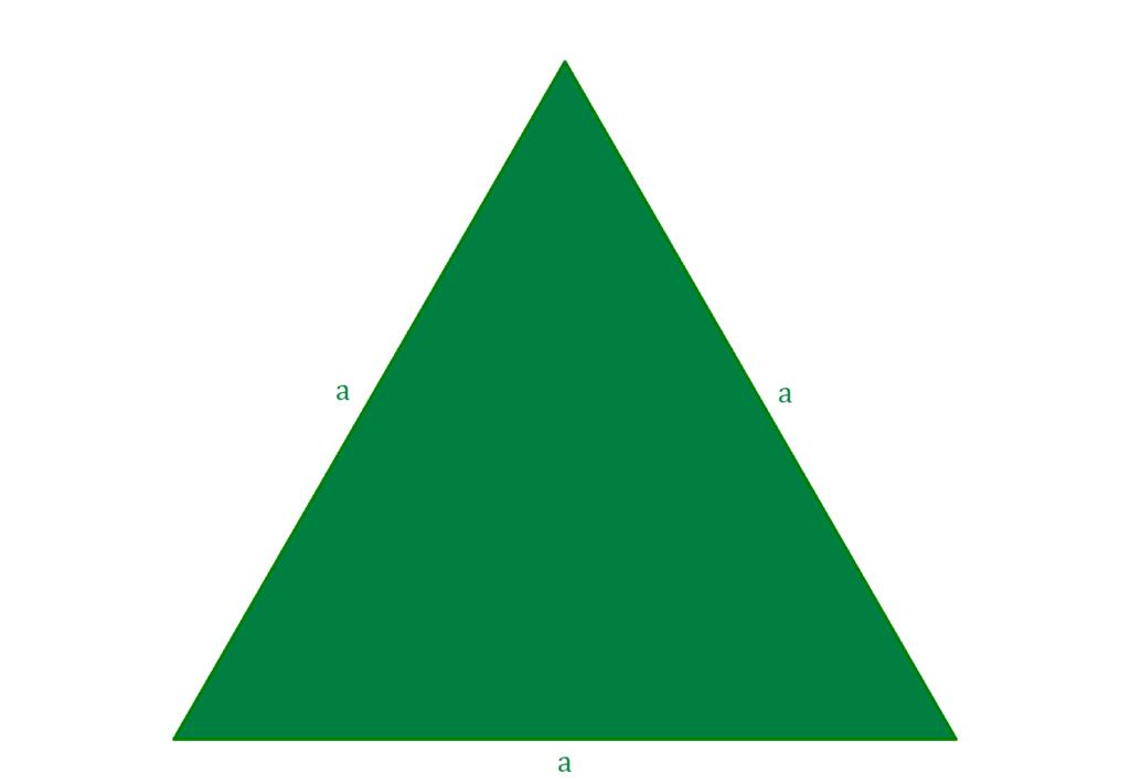 Flächeninhalt gleichseitiges Dreieck, gleichseitiges Dreieck, Fläche gleichseitiges Dreieck