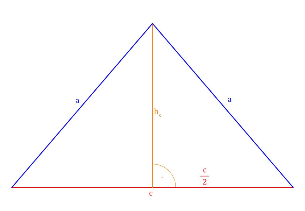 Höhe gleichschenkliges Dreieck, gleichschenkliges Dreieck Höhe, gleichschenkliges Dreieck