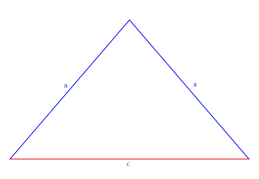 Umfang gleichschenkliges Dreieck, gleichschenkliges Dreieck Umfang, gleichschenkliges Dreieck