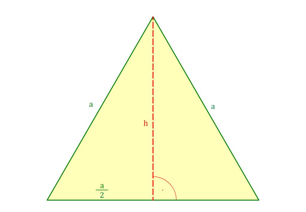 Gleichseitiges Dreieck, Gleichseitiges Dreieck Höhe