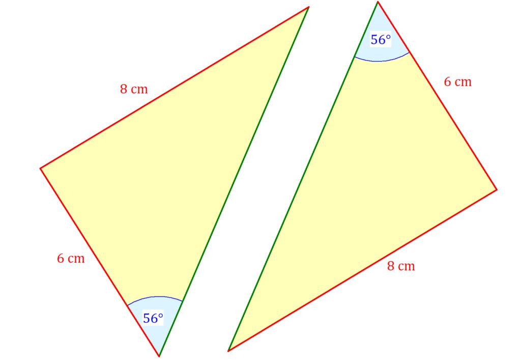 Kongruenzsätze Aufgabe, Kongruente Dreiecke, Kongruenzsatz SSW