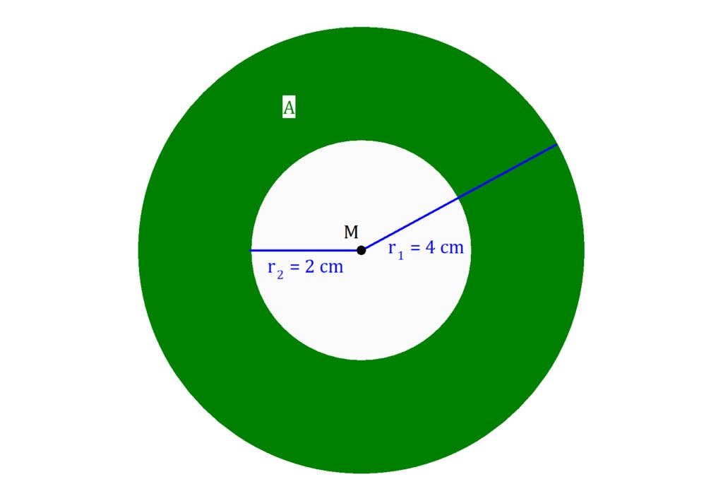 Kreisring, Fläche Kreisring, Kreis Ring, Kreis Ring Flächeninhalt