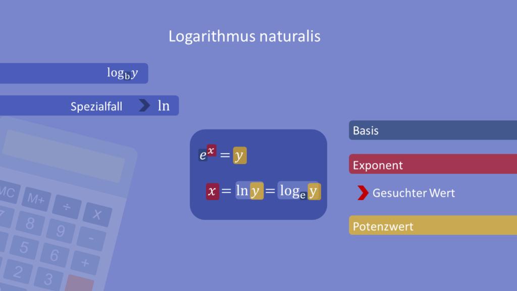 Natürlicher Logarithmus, Logarithmus naturalis