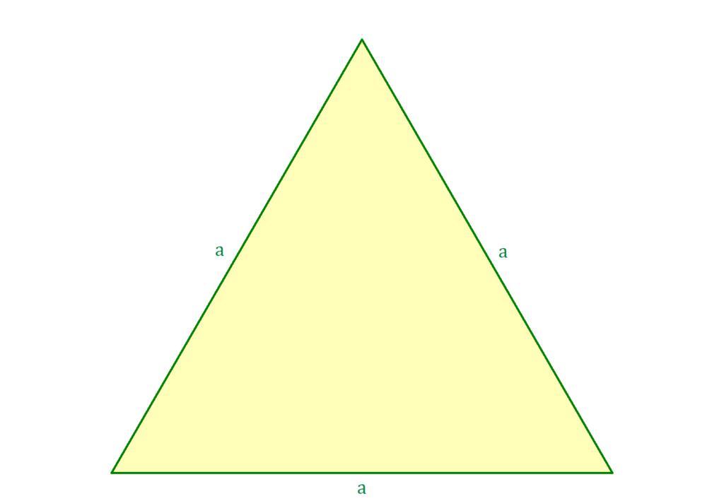 Umfang gleichseitiges Dreieck, gleichseitiges Dreieck, regelmäßiges Dreieck