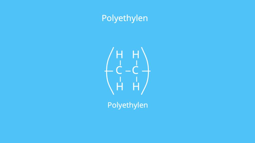 Makromolekül, Polymer, Kunststoff, PE, Struktur