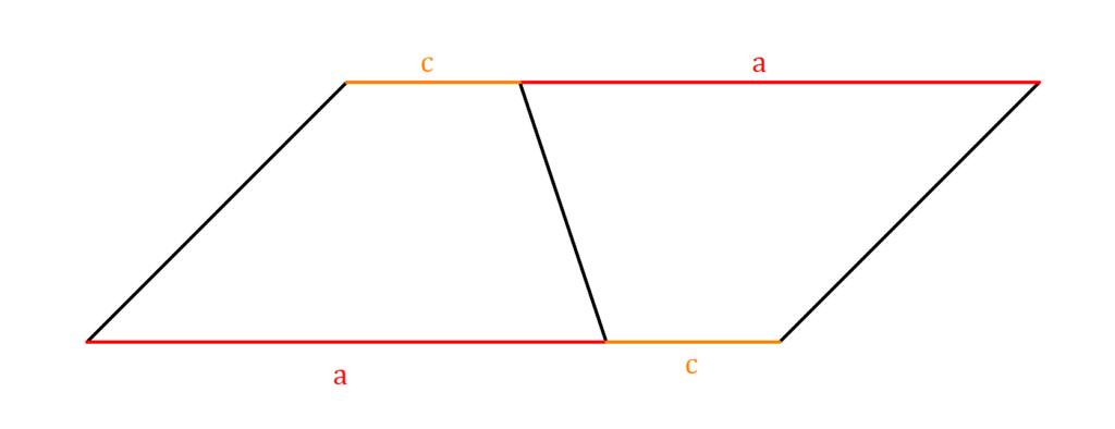 Flächeninhalt Trapez, Flächeninhalt Trapez Herleitung, Trapezfläche Herleitung